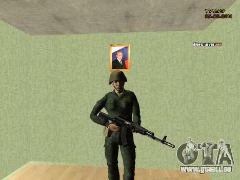 L'armée russe moderne pour GTA San Andreas quatrième écran