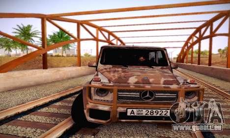 Mercedes Benz G65 Army Style pour GTA San Andreas vue de dessus