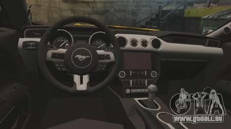 Ford Mustang GT 2015 v2.0 pour GTA 4 est une vue de l'intérieur