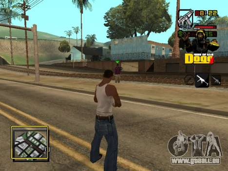 C-HUD Snoop Dogg pour GTA San Andreas quatrième écran
