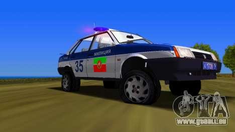 VAZ 21099 Miliz für GTA Vice City rechten Ansicht
