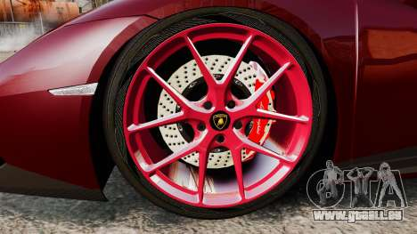 Lamborghini Huracan 2014 Oakley Tuning für GTA 4 Rückansicht
