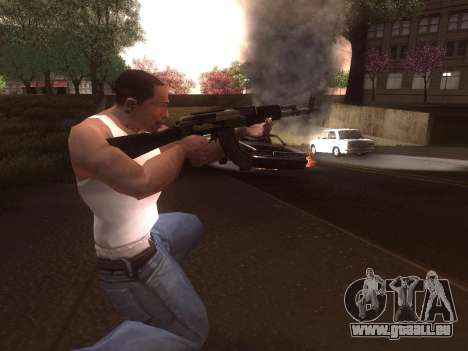 AK-103 pour GTA San Andreas cinquième écran