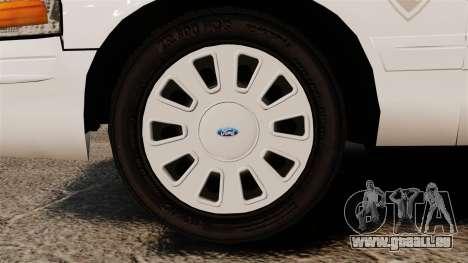 Ford Crown Victoria Traffic Enforcement [ELS] pour GTA 4 Vue arrière