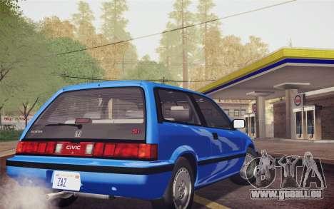 Honda Civic S 1986 IVF pour GTA San Andreas laissé vue