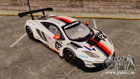 McLaren MP4-12C GT3 (Updated) pour GTA 4 est une vue de dessous