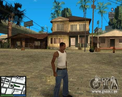 GTA V hud pour GTA San Andreas deuxième écran