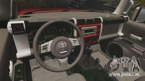 Toyota FJ Cruiser 2012 für GTA 4 Rückansicht
