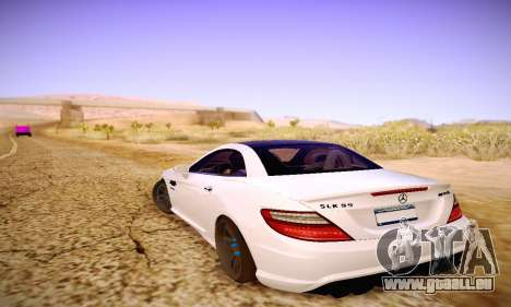 Mercedes Benz SLK55 AMG 2011 für GTA San Andreas Unteransicht