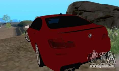 BMW M5 F10 v1.1 pour GTA San Andreas vue de droite