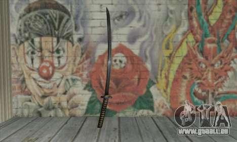 Samurai katana pour GTA San Andreas deuxième écran