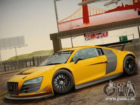 Audi R8 LMS Ultra W-Racing Team Vinyls pour GTA San Andreas vue de dessus