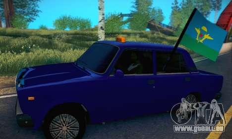 VAZ 2107 VDV pour GTA San Andreas laissé vue