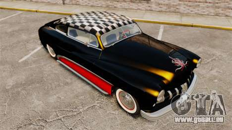 Mercury Lead Sled Custom 1949 pour GTA 4 vue de dessus