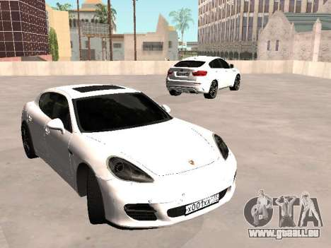 Porsche Panamera 2011 pour GTA San Andreas vue de droite