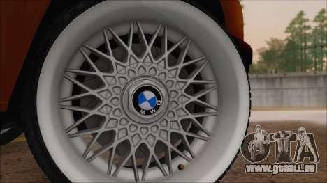 BMW M5 E30 pour GTA San Andreas sur la vue arrière gauche