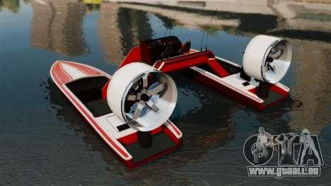 Catamaran-Jetmax Aero- pour GTA 4 Vue arrière de la gauche