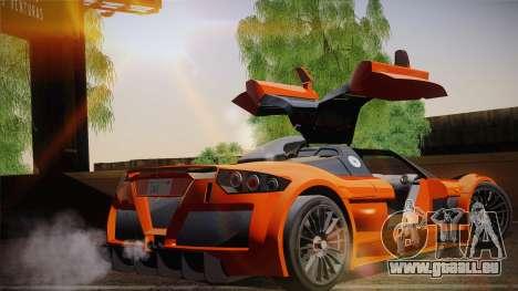 Gumpert Apollo Sport V10 für GTA San Andreas zurück linke Ansicht