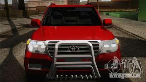 Toyota Land Cruiser 200 pour GTA San Andreas vue de dessus