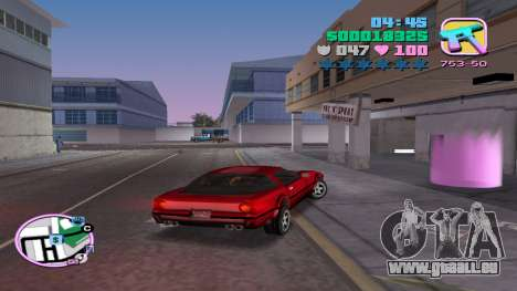 Vente illégale de véhicules automobiles GTA Vice City pour la troisième écran