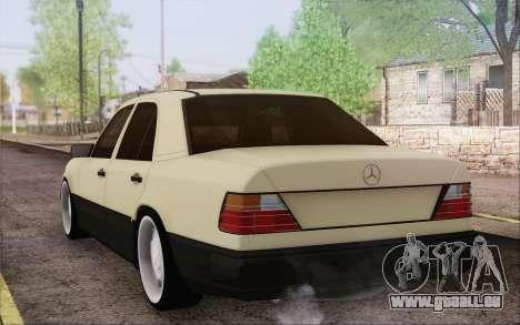 Mercedes-Benz W124 pour GTA San Andreas laissé vue
