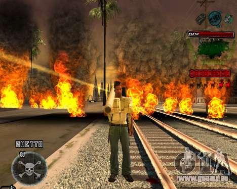 C-HUD Grove St pour GTA San Andreas deuxième écran