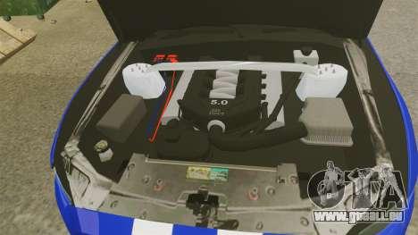 Ford Mustang GT 2015 Unmarked Police [ELS] pour GTA 4 est une vue de l'intérieur