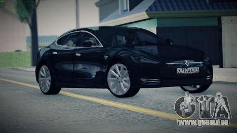 Tesla Model S für GTA San Andreas zurück linke Ansicht