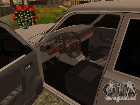 GAZ 31105 Wolga für GTA San Andreas Rückansicht