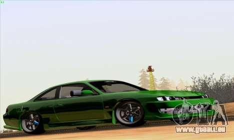 Nissan Silvia S14 Stance pour GTA San Andreas sur la vue arrière gauche