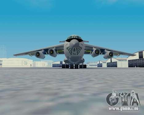 Il-76TD Aviacon zitotrans pour GTA San Andreas sur la vue arrière gauche
