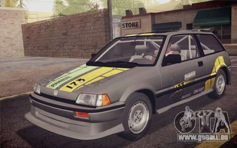Honda Civic S 1986 IVF pour GTA San Andreas moteur