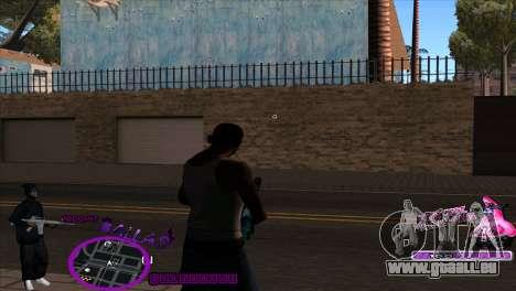 C-HUD Ballas by HARDy für GTA San Andreas zweiten Screenshot