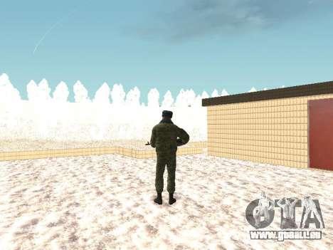 Des militaires en uniforme d'hiver pour GTA San Andreas troisième écran