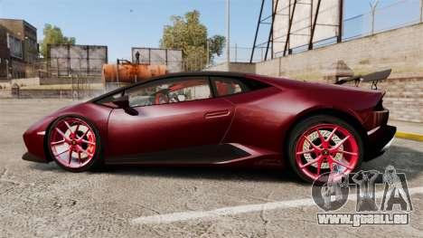 Lamborghini Huracan 2014 Oakley Tuning für GTA 4 linke Ansicht
