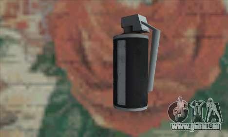 Gas grenade pour GTA San Andreas deuxième écran