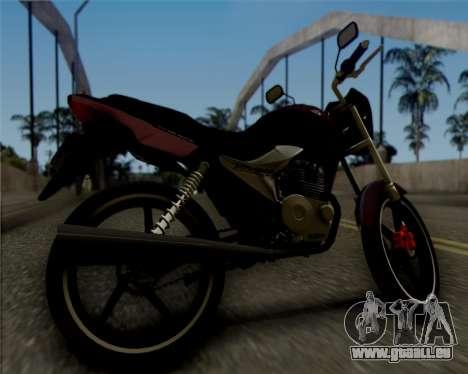 Honda Titan pour GTA San Andreas sur la vue arrière gauche