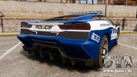 GTA V Pagassi Vacca Police für GTA 4 hinten links Ansicht