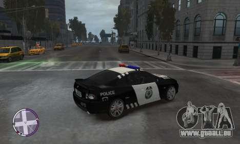 Holden Monaro CV8-R Police pour GTA 4 Vue arrière de la gauche