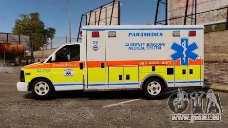 GMC Savana 2005 Ambulance [ELS] pour GTA 4 est une gauche