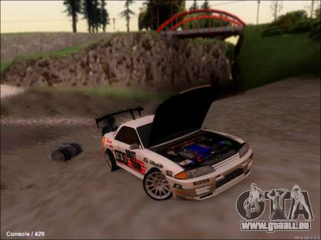 Nissan Skyline GTR R32 für GTA San Andreas Rückansicht