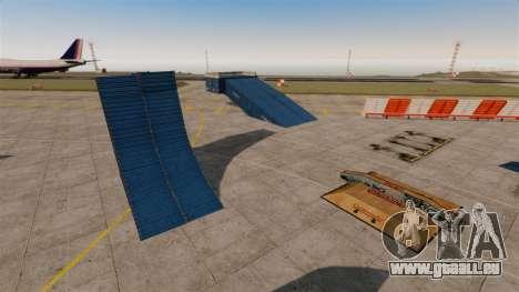 Astuce-parking à l'aéroport pour GTA 4 troisième écran