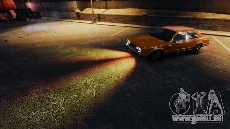 La lumière ardente de phares pour GTA 4