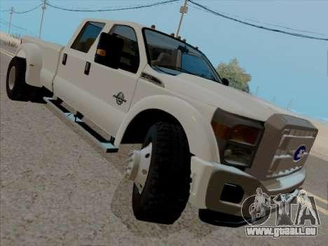 Ford F450 Super Duty 2013 pour GTA San Andreas laissé vue