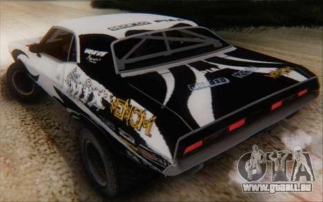 Dodge Challenger 1971 Aftermix pour GTA San Andreas vue intérieure