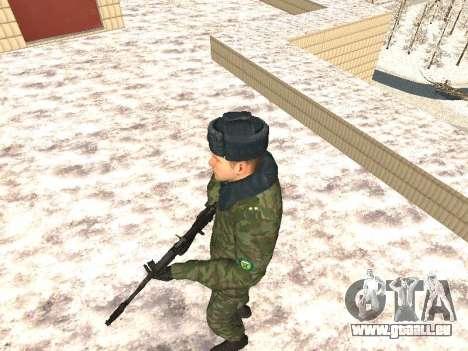 Des militaires en uniforme d'hiver pour GTA San Andreas deuxième écran
