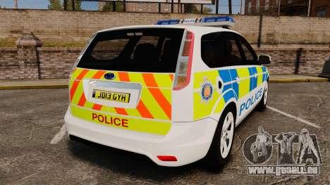 Ford Focus Estate Essex Police [ELS] pour GTA 4 Vue arrière de la gauche