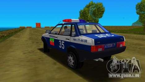VAZ 21099 Miliz für GTA Vice City obere Ansicht