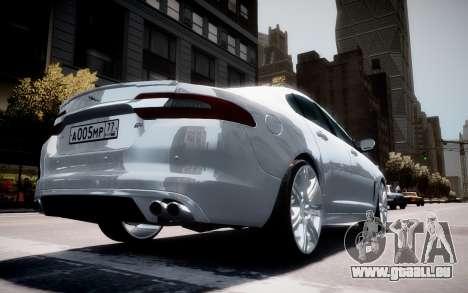Jaguar XF-R 2012 v1.2 pour GTA 4 roues
