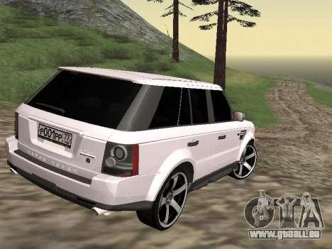 Range Rover Sport 2011 pour GTA San Andreas sur la vue arrière gauche